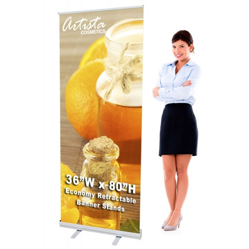 36 x 80 Retractable Banner Stand & Graphic Print